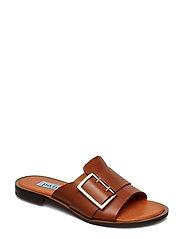 Big buckle flat sandal - BRUCIATTO
