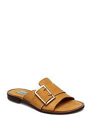 Big buckle flat sandal - CAMEL