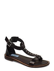 Rivet T-string sandal - NERO