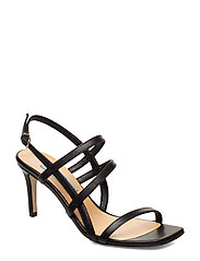 Square string sandal - BLACK