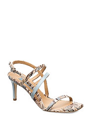 Square string sandal - MULTI COLORED