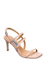 Square string sandal - NUDE