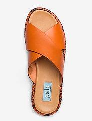 Apair - Plateau cross mix - platta sandaler - arancio - 3