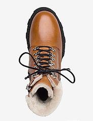 Apair - Chuncky ski - flat ankle boots - cognac - 3
