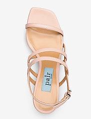 Apair - Square string sandal - høyhælte sandaler - nude - 3