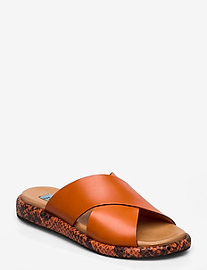 Plateau cross mix - flat sandals - arancio