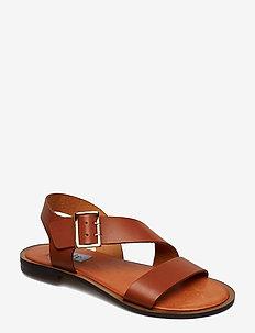 Asymetric buckle sandal - BRUCIATTO