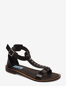 Rivet T-string sandal - NERO