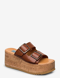 Cork wedge buckles - BRUCIATO