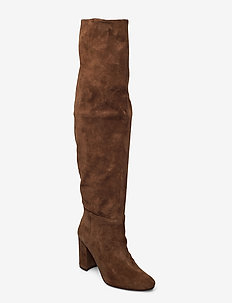 Long classic boot - høye boots - brown