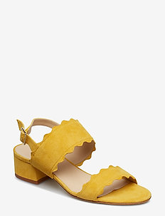 Wave sandal - heeled sandals - giallo
