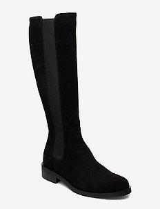 Long riding elastic - lange laarzen - black