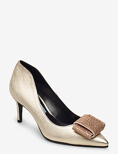 Pointed pump high back w/acc - klassiske pumps - laminato