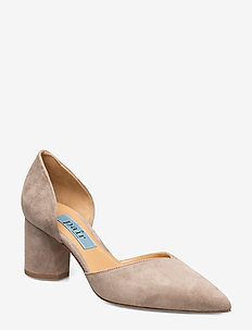 Open side low chunky - klassiske pumps - grey