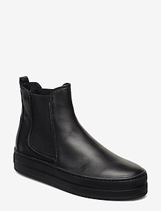 Bootie - flat ankle boots - black