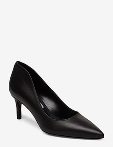 Pointed low pump high back - BLACK