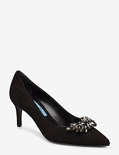 Pointed pump low w/simili - BLACK