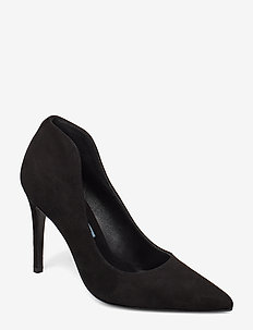 Pointed high pump high back - BLACK
