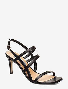 Square string sandal - BLACK