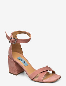 High Cross chunky square - heeled sandals - clay