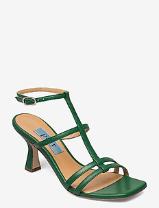 Square string ancle - högklackade sandaler - cactus (green)