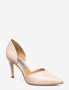 Open side high stiletto - NUDE