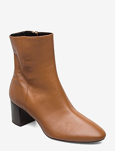 Plan low rounded bootie - COGNAC