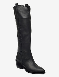 New western long - høye boots - black