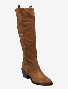New western long - høye boots - cognac