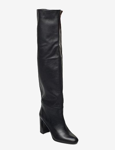 Long classic boot - höga stövlar - black