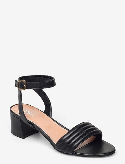 Padded dimpel sandal - högklackade sandaler - black