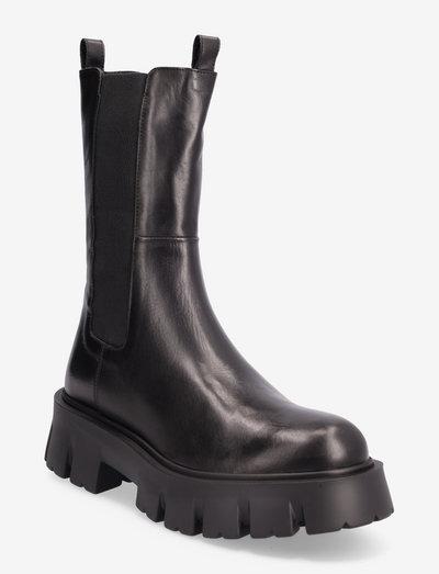 Mega chuncky elastic - chelsea boots - nero