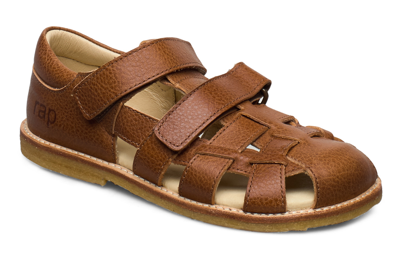 Arauto RAP ECOLOGICAL CLOSED SANDAL, FOR EXTRA WIDE FEETS - 39-COGNAC