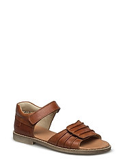 ECOLOGICAL OPEN SANDAL WITH SUPER SOFT SOLE - 02-COGNAC