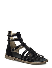 ECOLOGICAL GLADIATOR SANDAL, SUPER SOFT SOLE - 17-BLACK