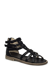 ECOLOGICAL OPEN RETRO SANDAL WITH SUPER SOFT SOLE - 05-BLACK