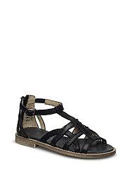 ECOLOGICAL HAND MADE Open Sandal - 01-BLACK