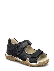 ECOLOGICAL OPEN TOE SANDAL, MEDIUM FIT - 25-BLACK