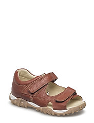 ECOLOGICAL OPEN TOE SANDAL, MEDIUM FIT - 27-FLOAT. COGNAC