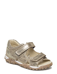 ECOLOGICAL OPEN TOE SANDAL, MEDIUM FIT - 33-GOLD FANTASY