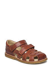 ECOLOGICAL CLOSED SANDAL, FOR EXTRA WIDE FEETS - 10-ECO COGNAC