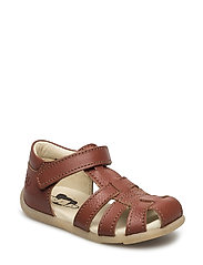 ECOLOGICAL HAND MADE Closed Sandal, Narrow fit - 14-COGNAC