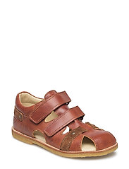 ECOLOGICAL HAND MADE Closed Sandal - 11-TUSC COGNAC
