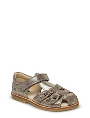 ECOLOGICAL CLOSED RETRO SANDAL, MEDIUM/WIDE FIT - 24-GOLD FANTASY