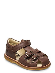 ECOLOGICAL CLOSED RETRO SANDAL, MEDIUM/WIDE FIT - 33-D. BROWN