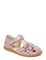 ECOLOGICAL CLOSED RETRO SANDAL, MEDIUM/WIDE FIT - 68-COMET BERRY