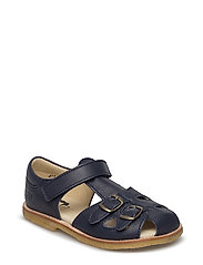 ECOLOGICAL CLOSED RETRO SANDAL, MEDIUM/WIDE FIT - 78-NAVY