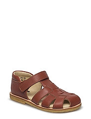 ECOLOGICAL CLOSED SANDAL - 49-FLOAT. COGNAC