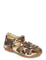 HAND MADE SANDAL - T1-ARMY GREEN