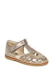 ECOLOGICAL HAND MADE Closed Sandal - 06-GOLD FANTASY